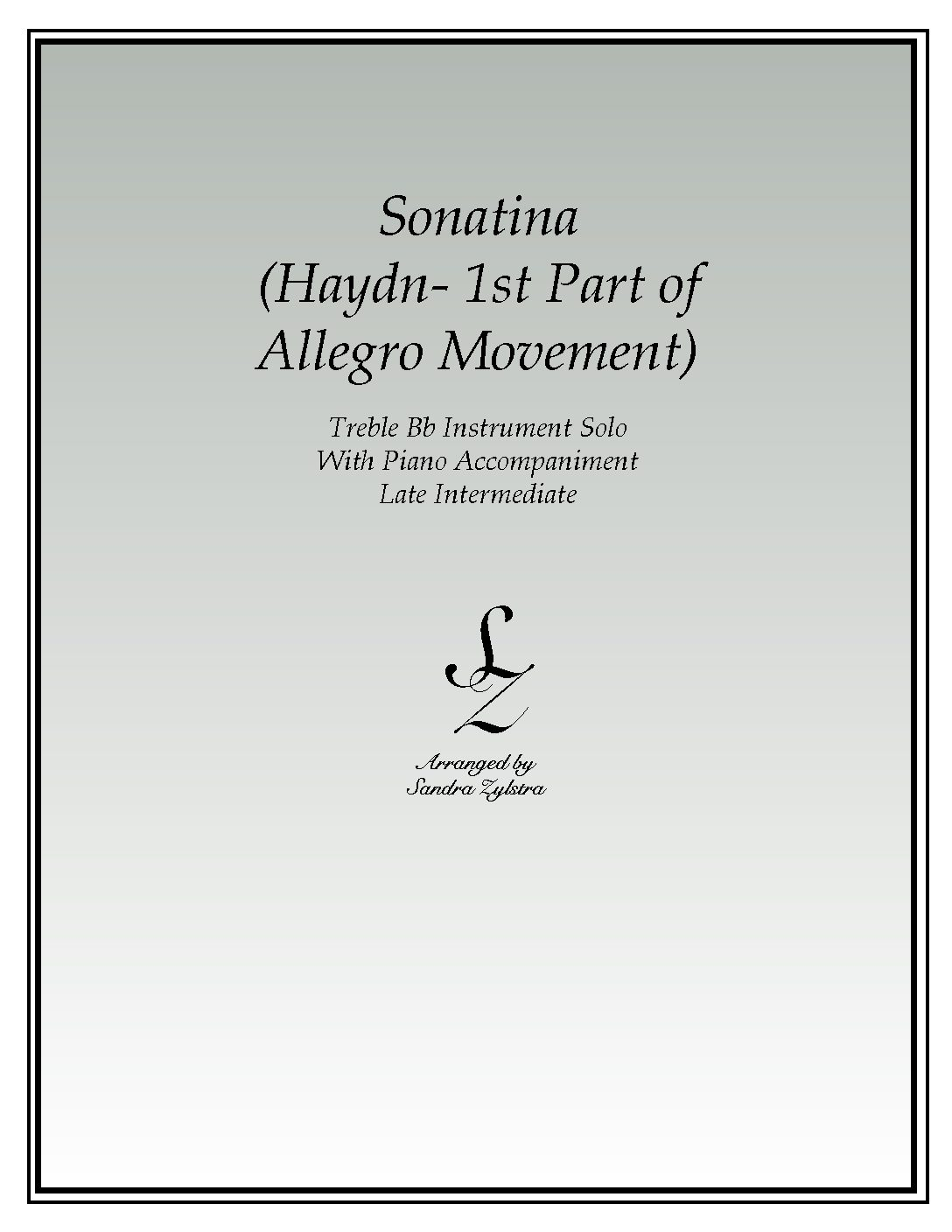 IS 59 Sonatina Haydn 1st part of Allegro Movement 01 Treble Bb pdf