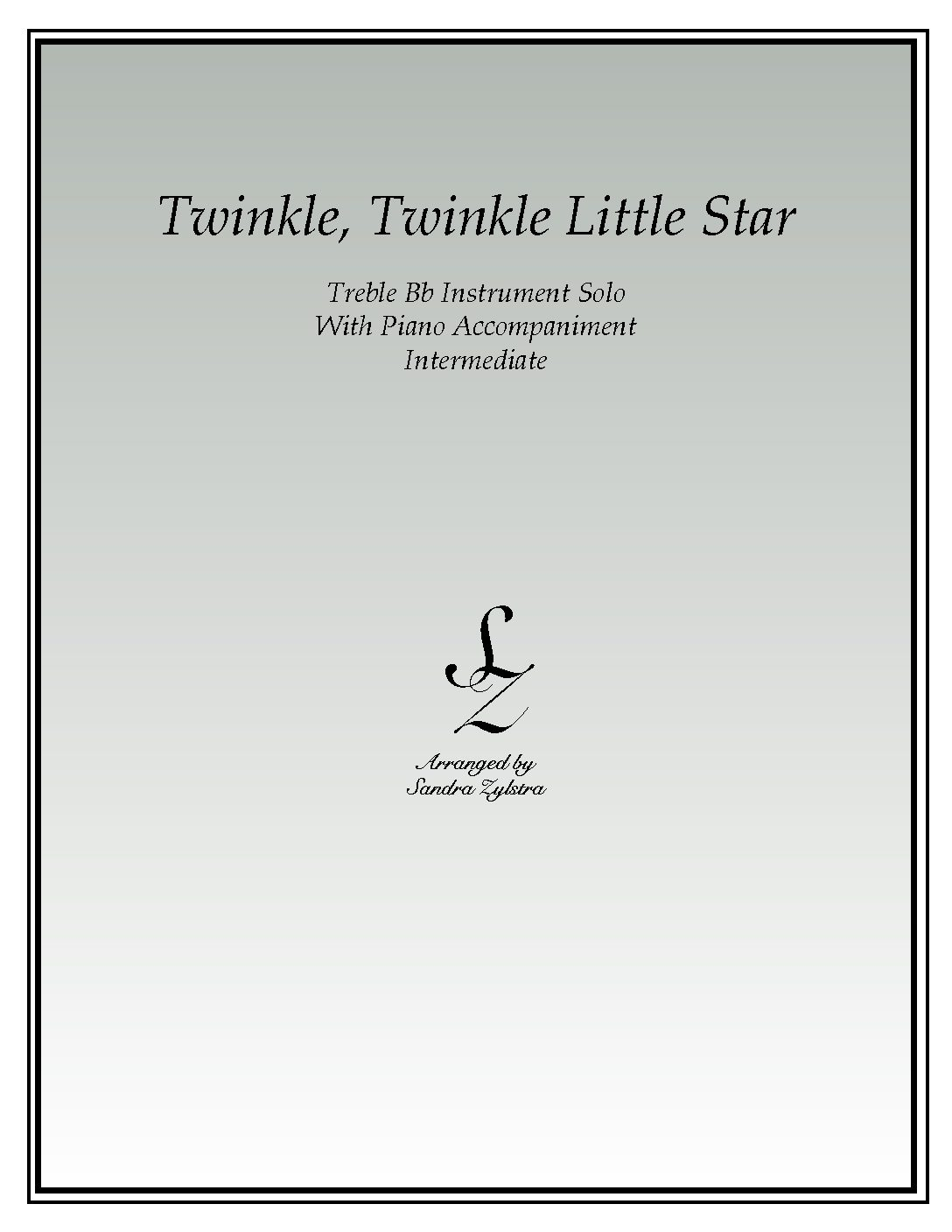 Twinkle, Twinkle Little Star -Treble Bb Instrument Solo