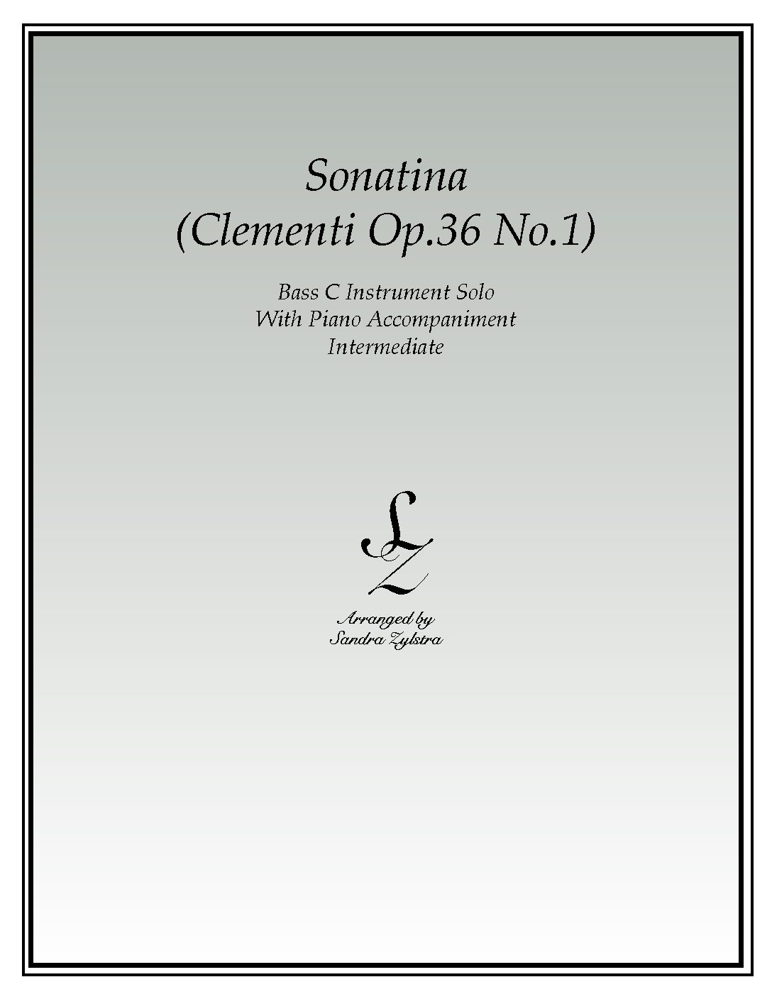 Sonatina-Clementi (Op. 36, No. 1) -Bass C Instrument Solo