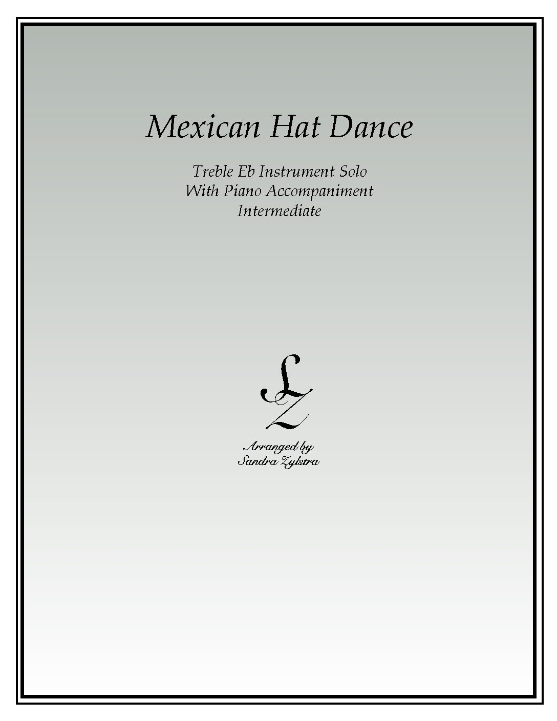 Mexican Hat Dance -Treble Eb Instrument Solo