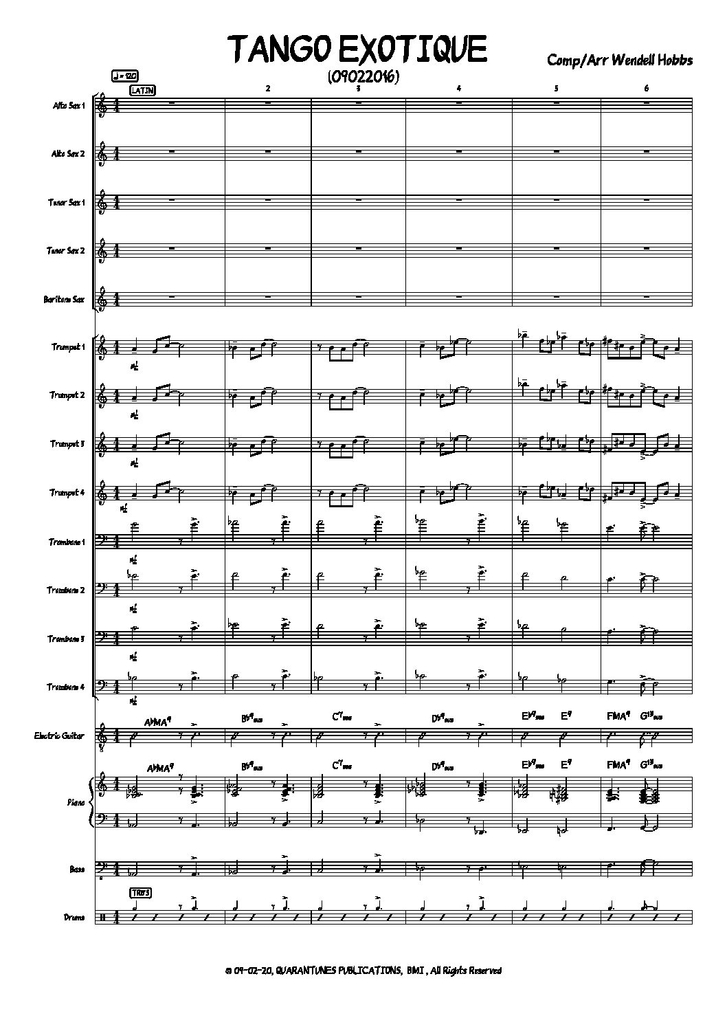 TANGO EXOTIQUE Score and Parts copy 2 1 pdf
