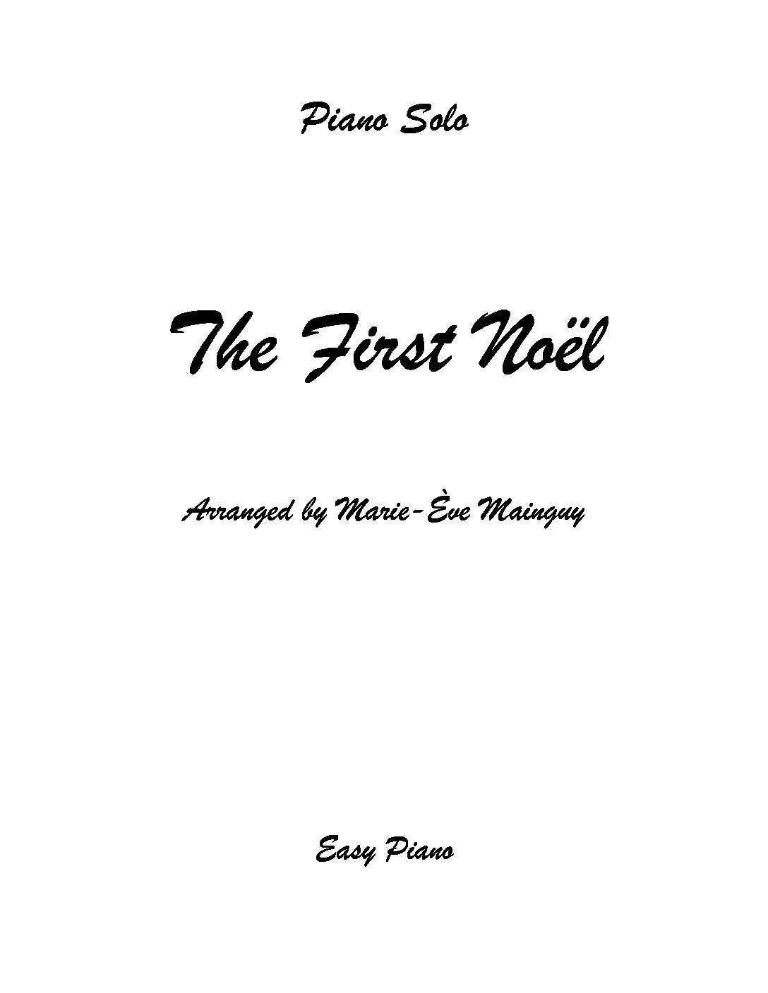 TheFirstNoel Couverture pdf